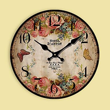 현대/현대 가족 벽 시계,라운드 기타 34*34*3cm 실내 시계