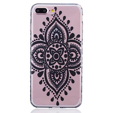 용 아이폰7케이스 / 아이폰7플러스 케이스 / 아이폰6케이스 투명 / 패턴 케이스 뒷면 커버 케이스 레이스 디자인 소프트 TPU Apple아이폰 7 플러스 / 아이폰 (7) / iPhone 6s Plus/6 Plus / iPhone 6s/6 /