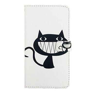 용 모토로라 케이스 카드 홀더 / 지갑 / 스탠드 / 플립 케이스 풀 바디 케이스 고양이 하드 인조 가죽 Motorola Moto Z