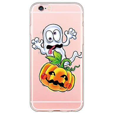 For iPhone 7 Halloween cartoon pattern TPU Ultra-thin Ranslucent Soft Back Cover for iPhone 6s 6 Plus 5s 5