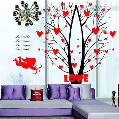 정물화 벽 스티커 플레인 월스티커 데코레이티브 월 스티커 / 웨딩 스티커,PVC 자료 이동가능 / 재부착가능 홈 장식 벽 데칼