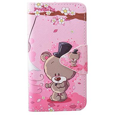 Mert Samsung Galaxy S7 Edge Kártyatartó / Pénztárca / Állvánnyal / Flip / Dombornyomott / Minta / Mágneses Case Teljes védelem Case Állat