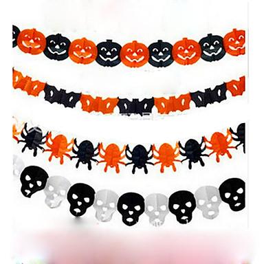 Papier łańcucha dekoracje girlanda dyni bat duch pająka kształt czaszki halloween dekoracje girlanda