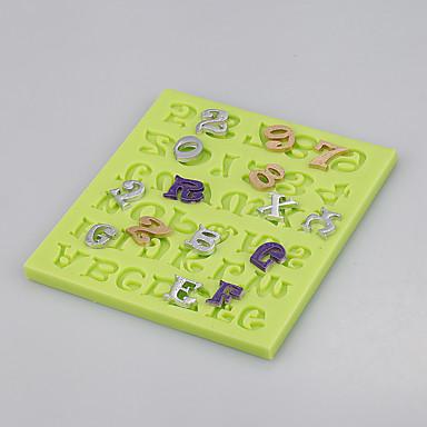 fondant torta díszítő eszközök száma&levél csokoládé öntött agyag szilikon penész szín véletlenszerű