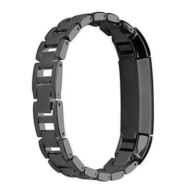 블랙 / 로즈 / 골드 / 실버 스테인레스 스틸 스포츠 밴드 용 핏빗 손목 시계 16mm