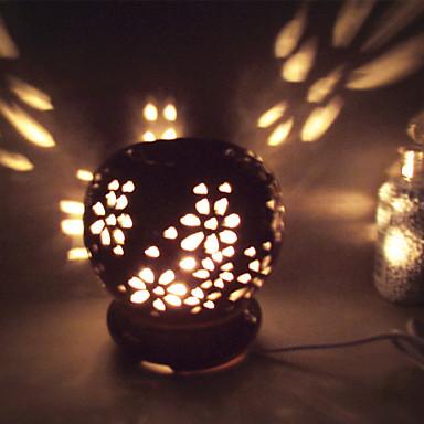 1db kerámia kimélyít plug-in elektromos illat lámpa kis éjszakai fény a fekete máz körkörös illóolaj lámpa