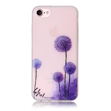 Case Kompatibilitás Apple iPhone 6 iPhone 7 Plus iPhone 7 Foszforeszkáló Minta Fekete tok Pitypang Puha TPU mert iPhone 7 Plus iPhone 7