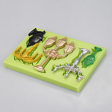 뜨거운 도매 사각형 1 실리콘 보석 금형 케이크 금형 퐁당 케이크 도구 색상 랜덤