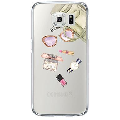 제품 Samsung Galaxy S7 Edge 케이스 커버 투명 패턴 뒷면 커버 케이스 타일 소프트 TPU 용 Samsung S7 edge S7 S6 edge plus S6 edge S6 S5 S4