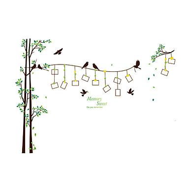 애니멀 / 보태니컬 / 모양 벽 스티커 플레인 월스티커 데코레이티브 월 스티커 / 사진 스티커,PVC 자료 물 세탁 가능 / 이동가능 / 재부착가능 홈 장식 벽 데칼