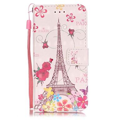 Mert iPhone 7 tok / iPhone 7 Plus tok / iPhone 6 tok Kártyatartó / Minta Case Teljes védelem Case Eiffel torony Kemény Műbőr AppleiPhone