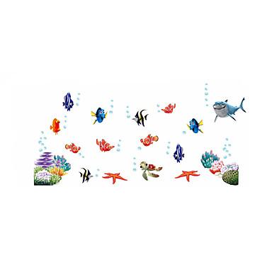 경치 동물 패션 벽 스티커 플레인 월스티커 데코레이티브 월 스티커 하이트 스티커 홈 장식 벽 데칼 벽 유리 / 욕실