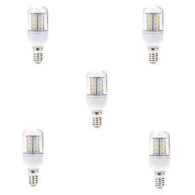 e14 led 옥수수 조명 t 24 smd 5730 580lm 따뜻한 흰색 차가운 흰색 2700-6500k 장식 ac 220-240v