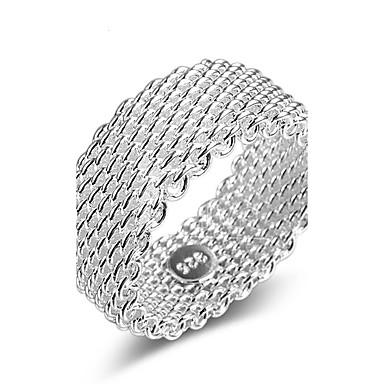 Damskie Pierścionek zaręczynowy Band Ring Silver Srebrny Multi-sposoby Wear Podwójna warstwa Cross Ślub Impreza Codzienny Casual