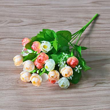Sztuczne Kwiaty 1 Gałąź Styl nowoczesny Roses Bukiety na stół