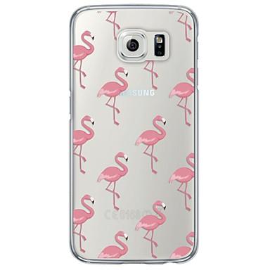 Coque Pour Samsung Galaxy Samsung Galaxy S7 Edge Ultrafine Translucide Coque Carreau vernisé Flexible TPU pour S7 edge S7 S6 edge plus S6