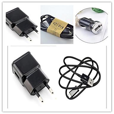Ładowarka samochodowa Ładowarka domowa Telefonowa ładowarka USB Wtyczka EU Zestaw do ładowania 2 porty USB 1A AC 100V-240V Do smartfona