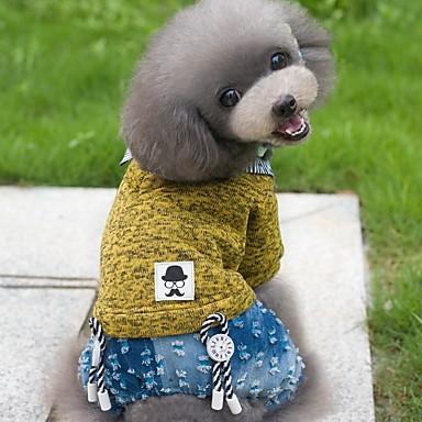 Kutyák Jumpsuitek Kutyaruházat Tél Tavasz/Ősz Brit Szabadság Divat Sárga Zöld