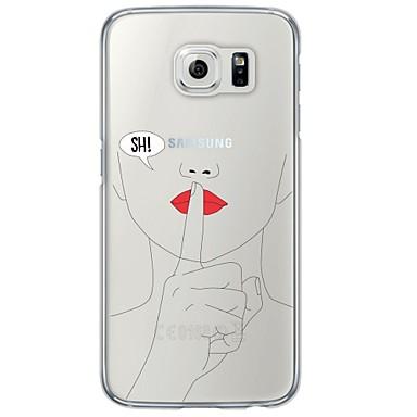 Недорогие Чехлы и кейсы для Galaxy S6-Кейс для Назначение SSamsung Galaxy S7 edge / S7 / S6 edge plus Ультратонкий / Полупрозрачный Кейс на заднюю панель другое Мягкий ТПУ