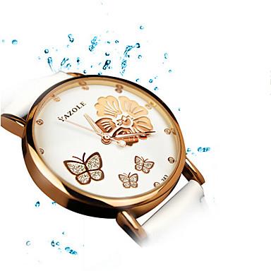 아가씨들 드레스 시계 패션 시계 손목 시계 / 석영 가죽 밴드 눈송이 캐쥬얼 블랙 화이트 레드 브라운