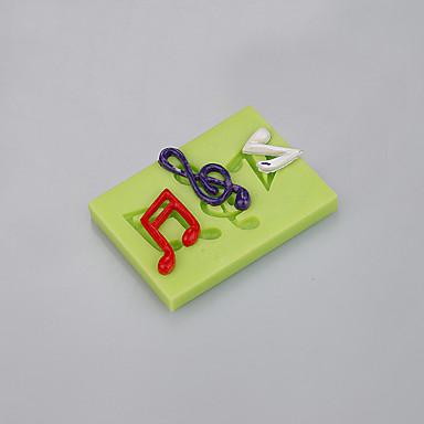 메모 모양 실리콘 곰팡이 퐁당 케이크 fimo 점토 초콜릿 금형 색상 랜덤 쉬운 베이킹 도구