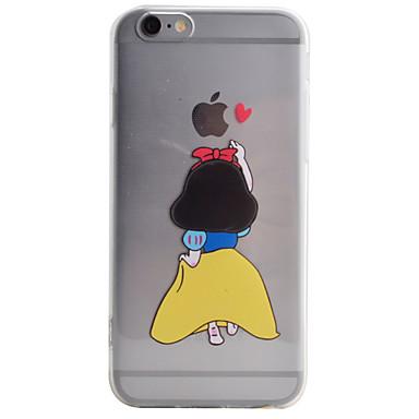 Kılıf Na Apple iPhone X iPhone 8 Etui iPhone 5 iPhone 6 iPhone 6 Plus Przezroczyste Wzór Czarne etui Rysunek Miękkie TPU na iPhone X