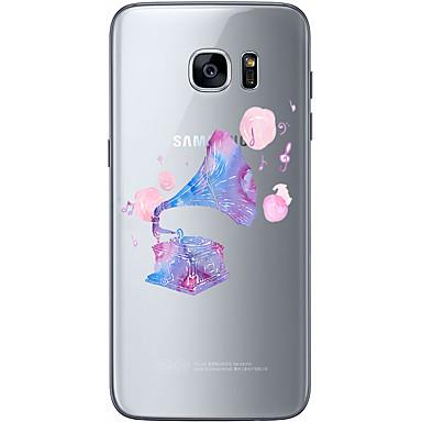 용 Samsung Galaxy S7 Edge 패턴 케이스 뒷면 커버 케이스 크리스마스 소프트 TPU Samsung S7 edge / S7 / S6 edge plus / S6 edge / S6