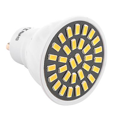 ywxlight® gu10 led 스포트 라이트 32 smd 5733 500-700 lm 따뜻한 흰색 찬 백색 장식 ac 220-240 ac 110-130 v