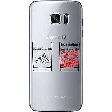 용 Samsung Galaxy S7 Edge 패턴 케이스 뒷면 커버 케이스 단어 / 문구 소프트 TPU Samsung S7 edge / S7 / S6 edge plus / S6 edge / S6