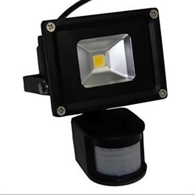10w led árvíz fény lámpa fehér meleg fény pir érzékelő (ac85-265v)