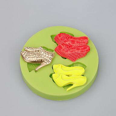 magas sarkú alakú szilikon öntőforma fondant szappan formák szilikon torta penész ramdon szín