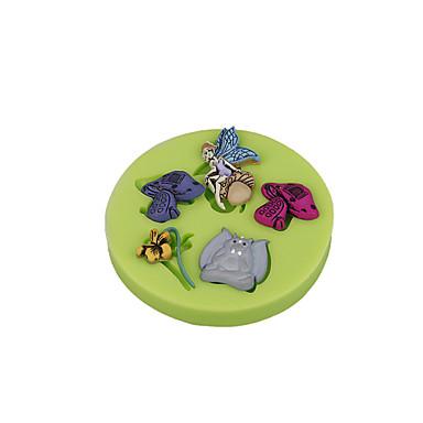 virág mese gomba szilikon sugarcraft penész fondant torta díszítő eszközöket csokoládé cupcake színes random
