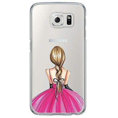 Недорогие Чехлы и кейсы для Galaxy S6-Кейс для Назначение SSamsung Galaxy S7 edge / S7 / S6 edge plus Ультратонкий / Полупрозрачный Кейс на заднюю панель Соблазнительная девушка Мягкий ТПУ