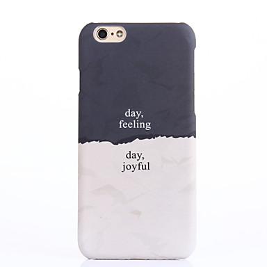 Case Kompatibilitás iPhone 6s Plus iPhone 6 Plus iPhone 6s iPhone 6 iPhone 5 Apple iPhone 6 Plus Minta Fekete tok Szó / bölcselet Kemény