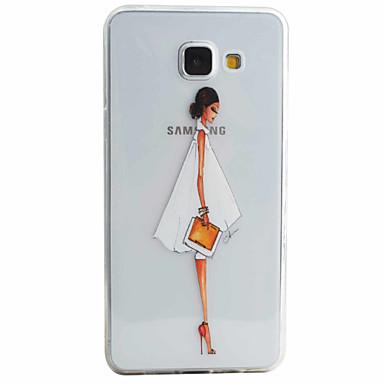 Mert Samsung Galaxy tok Minta Case Hátlap Case Szexi lány Puha TPU Samsung A5(2016) / A3(2016)