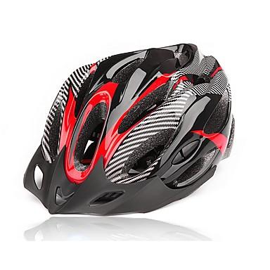 kerékpáros sisak 20 Szellőzőnyílás Hegy Szénszál + EPS Kerékpározás / Kerékpár / Mountain bike Piros / Kék / Fekete / Ezüst