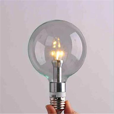 E26/E27 LED 글로브 전구 G95 3 LED가 SMD 3528 장식 따뜻한 화이트 차가운 화이트 2700/6500lm 2700,6500(K)K AC 220-240V