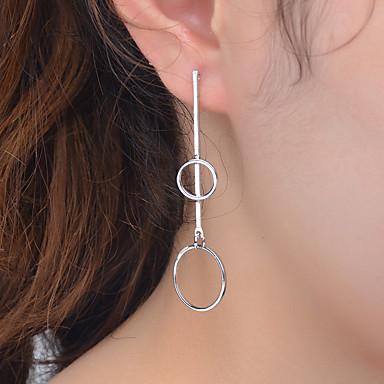 여성 스터드 귀걸이 링 귀걸이 패션 미니멀 스타일 유럽의 합금 Circle Shape Geometric Shape 보석류 제품 파티 일상 캐쥬얼