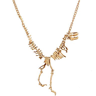preiswerte Halsketten-Damen Halsketten Statement Ketten Dinosaurier Drache Tier Erklärung damas Personalisiert Retro versilbert vergoldet Aleación Gold Schwarz Silber Modische Halsketten Schmuck Für Party Normal