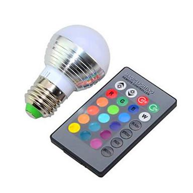 150lm E26 / E27 Inteligentne żarówki LED G95 1 Koraliki LED High Power LED Przysłonięcia Zdalnie sterowana RGB 85-265V