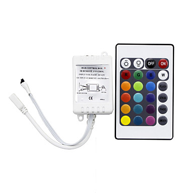 1 pc zdalnie sterowany czujnik podczerwieni pasek światła akcesoria 24 klawiszy ir zdalnego sterowania tworzywem sztucznym do taśmy LED rgb światła