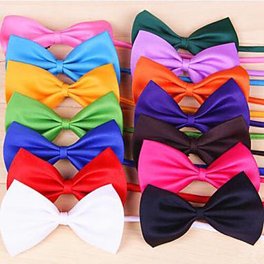 Kedi Köpek Düğüm/Papyon Bağı Köpek Giyimi Fiyonk Düğüm Gül Kırmzı Yeşil Pembe Açık Mavi Terylene Kostüm Evcil hayvanlar için Erkek Kadın's