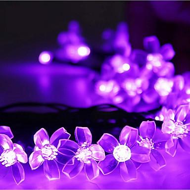 Łańsuchy świetlne 50 Diody LED Ciepła biel RGB Biały Różowy Fioletowy Niebieski Akumulator Przysłonięcia Wodoodporne 100-240V