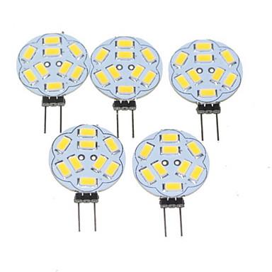 1,5W 200-220 lm G4 LED Σποτάκια MR11 9 leds SMD 5730 Με ροοστάτη Θερμό Λευκό AC 12V DC 12V