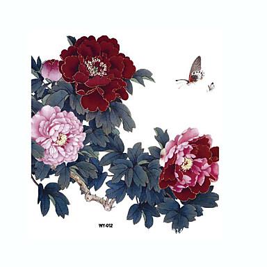 1 Mintás Nagy méret Waterproof Virág sorozat Tetkó matricák