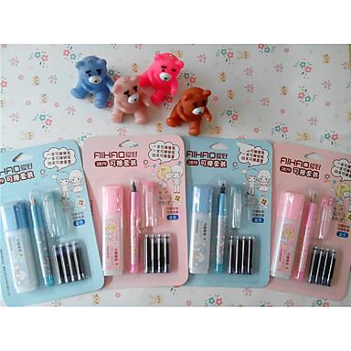 Toll Toll Töltőtoll Toll,Műanyag Hordó Kék Ink Colors For Iskolai felszerelés Irodaszerek Csomag PEN