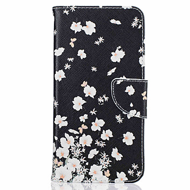 Case Kompatibilitás Apple iPhone 5 tok iPhone 6 iPhone 7 Kártyatartó Állvánnyal Flip Minta Héjtok Virág Kemény PU bőr mert iPhone 7 Plus