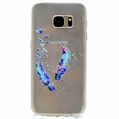케이스 제품 Samsung Galaxy S8 S7 edge 패턴 뒷면 커버 깃털 소프트 TPU 용 S8 S7 edge S7 S5 Mini S5
