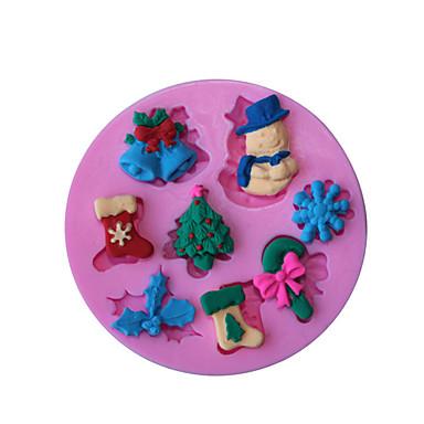 1 빵 굽기 넌스틱 / 친환경적인 / DIY / 베이킹 도구 / 3D / 고품질 브레드 / 케이크 / 쿠키 / Cupcake / 파이 / 피자 / 초콜렛 / 얼음 실리콘 베이킹 몰드