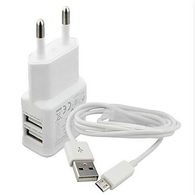Ładowarka domowa Ładowarka przenośna Telefonowa ładowarka USB Wtyczka EU Zestaw do ładowania Wieloportowa 2 porty USB 2.1A AC 100V-240V